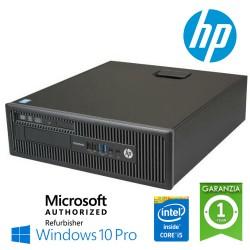 (REFURBISHED) PC HP EliteDesk 800 G1 SFF Core i5-4590 3.3GHz 8Gb 256Gb SSD DVD-RW Windows 10 Professional
