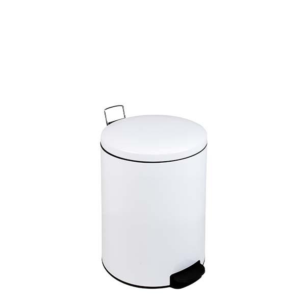 Pattumiera Bin Plus bianca a pedale 5 lit. con coperchio a chiusura silenziosa IGO-MDL112056